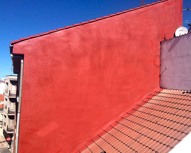 Aislaeco pared roja